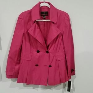 Miss Sixty Raspberry Trench Coat large NWT